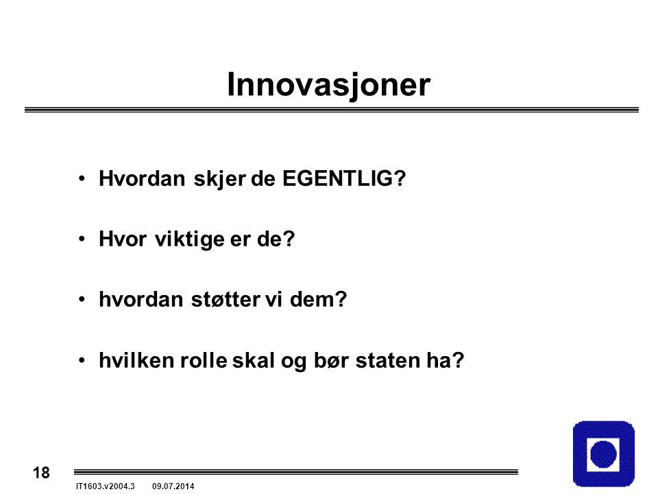 Innovasjoner Hvordan skjer de EGENTLIG Hvor viktige er de