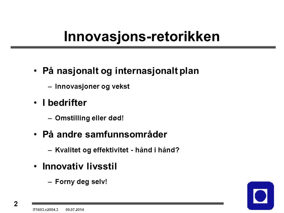 Innovasjons-retorikken
