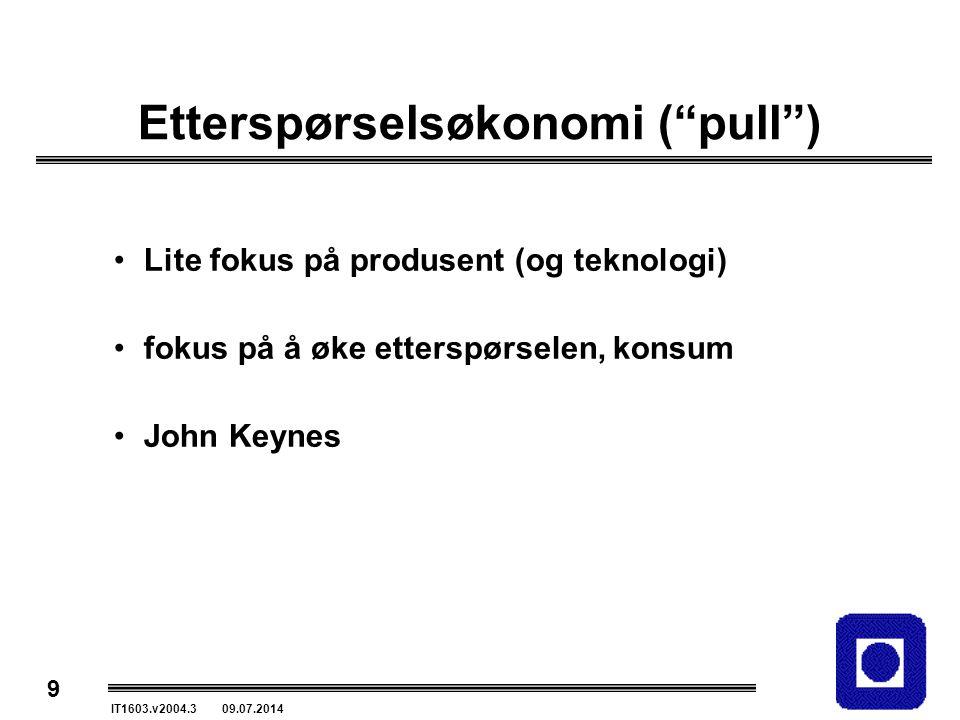 Etterspørselsøkonomi ( pull )