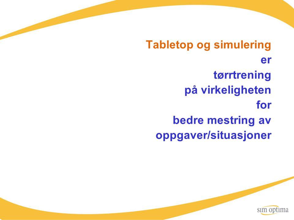 Tabletop og simulering