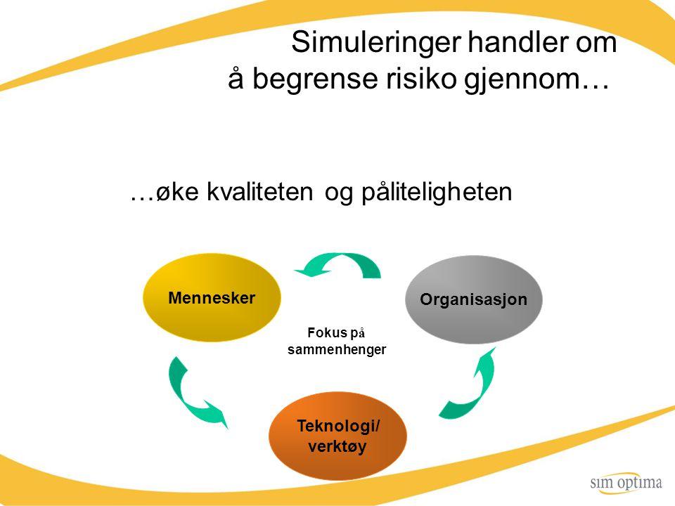Simuleringer handler om å begrense risiko gjennom…