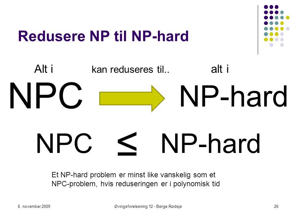 Redusere NP til NP-hard