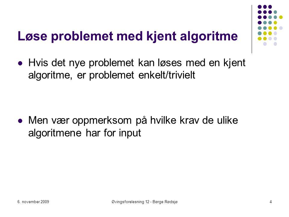 Løse problemet med kjent algoritme