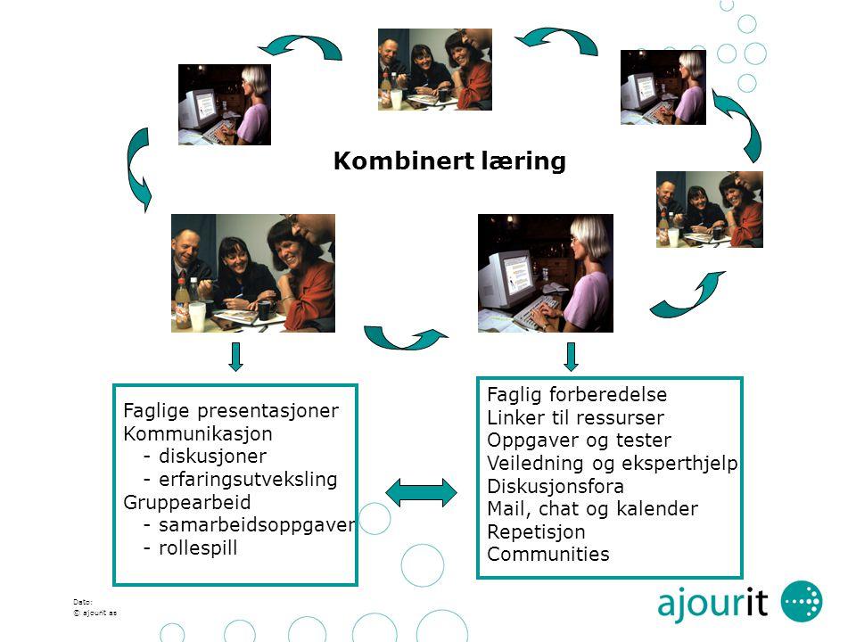 Kombinert læring Faglig forberedelse Linker til ressurser
