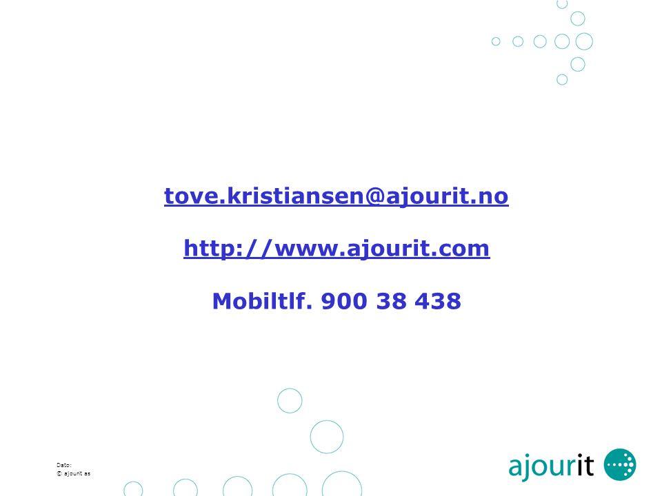 tove. kristiansen@ajourit. no http://www. ajourit. com Mobiltlf
