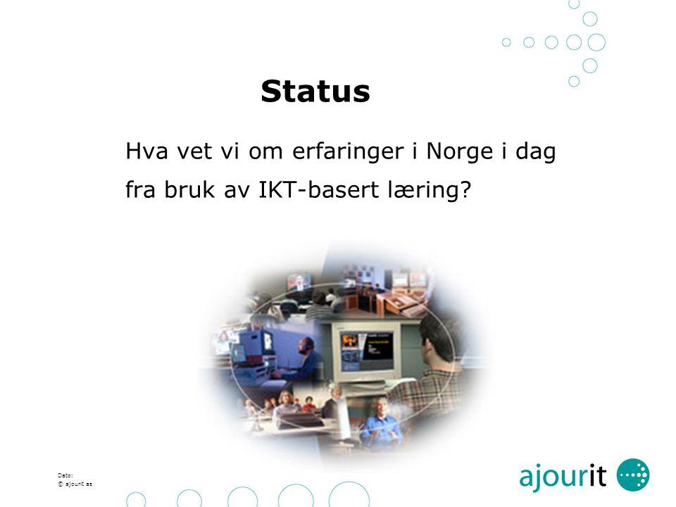 Status fra bruk av IKT-basert læring