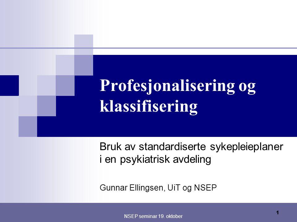 Profesjonalisering og klassifisering