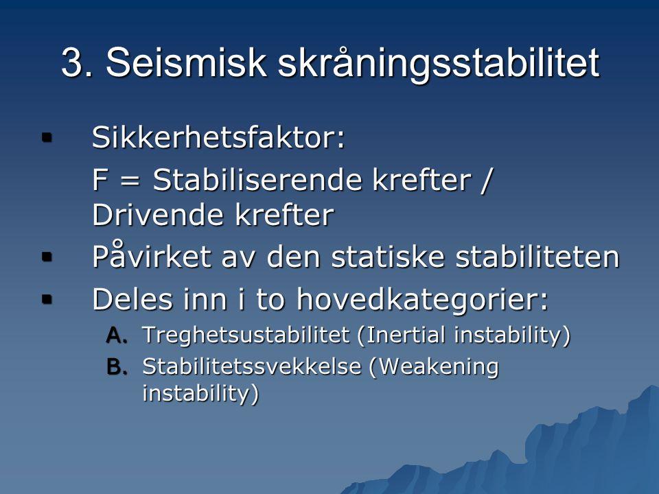 3. Seismisk skråningsstabilitet