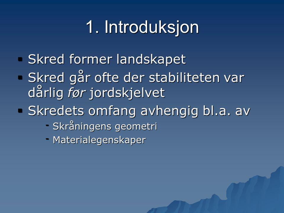 1. Introduksjon Skred former landskapet