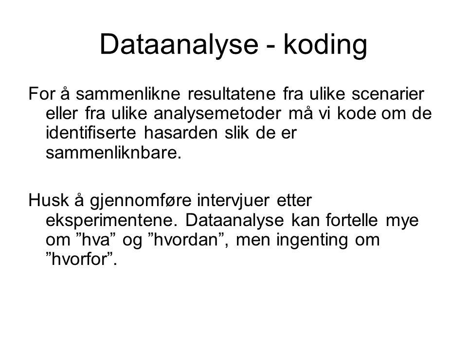 Dataanalyse - koding