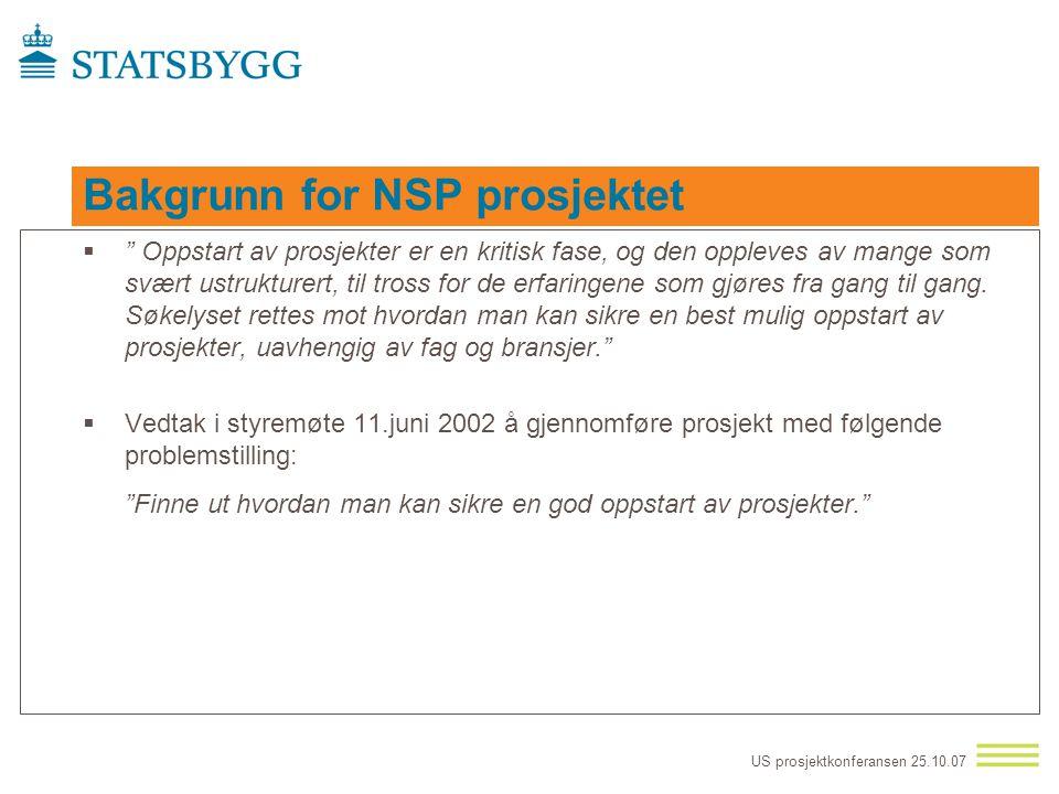 Bakgrunn for NSP prosjektet