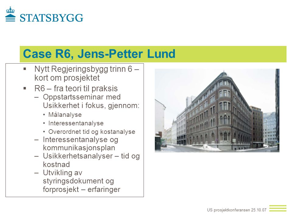 Case R6, Jens-Petter Lund