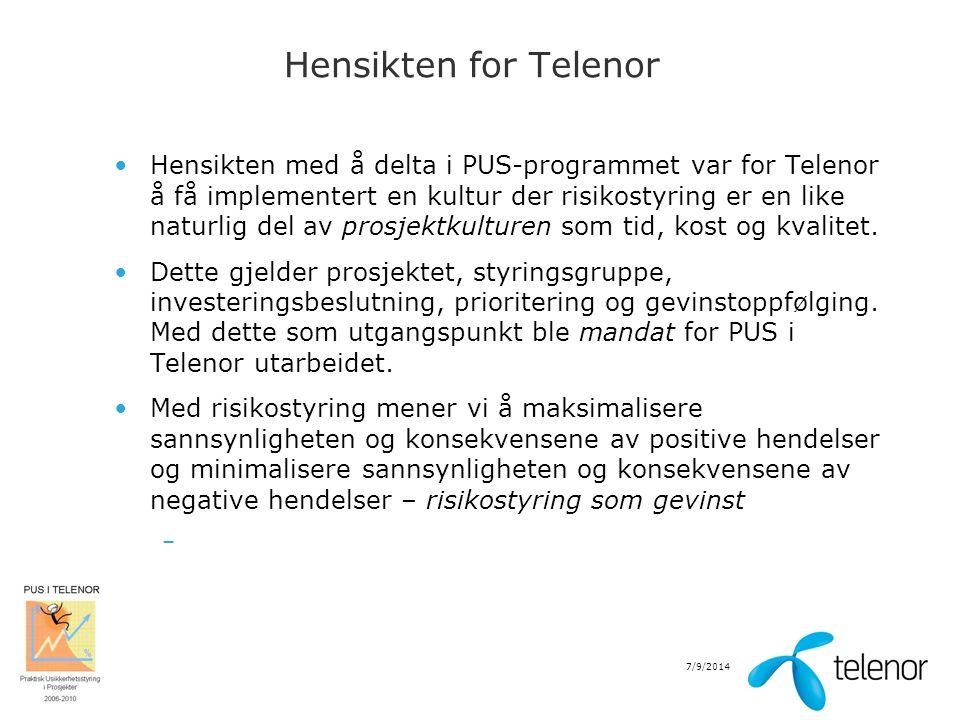 Hensikten for Telenor