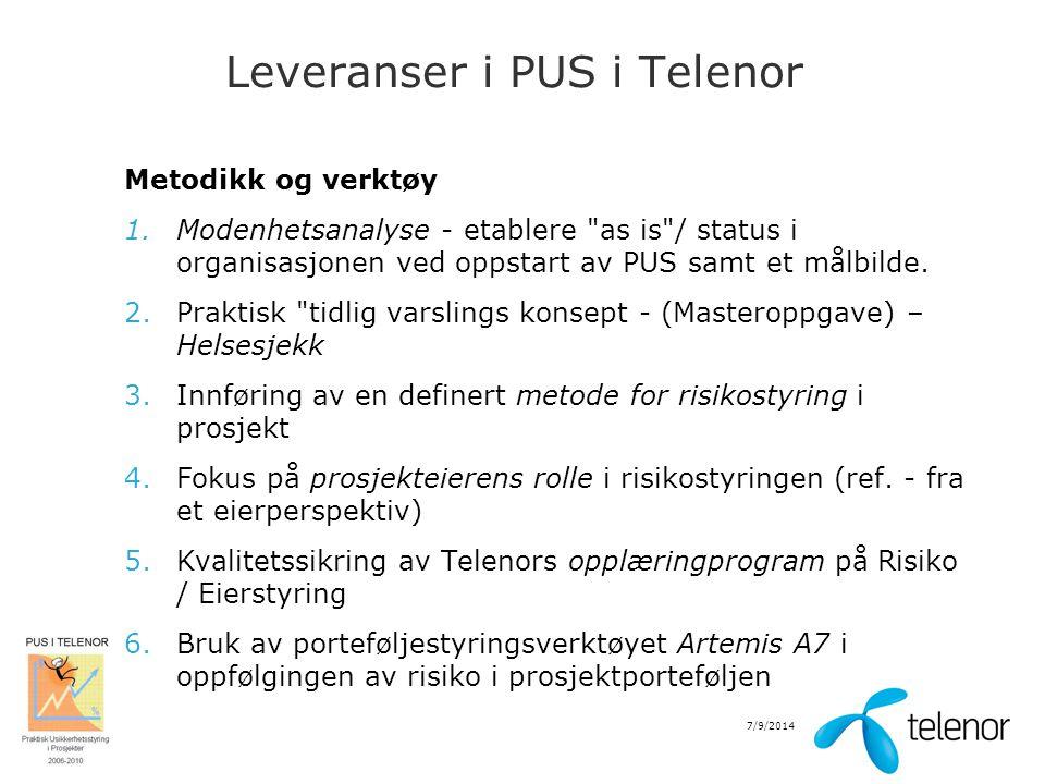 Leveranser i PUS i Telenor