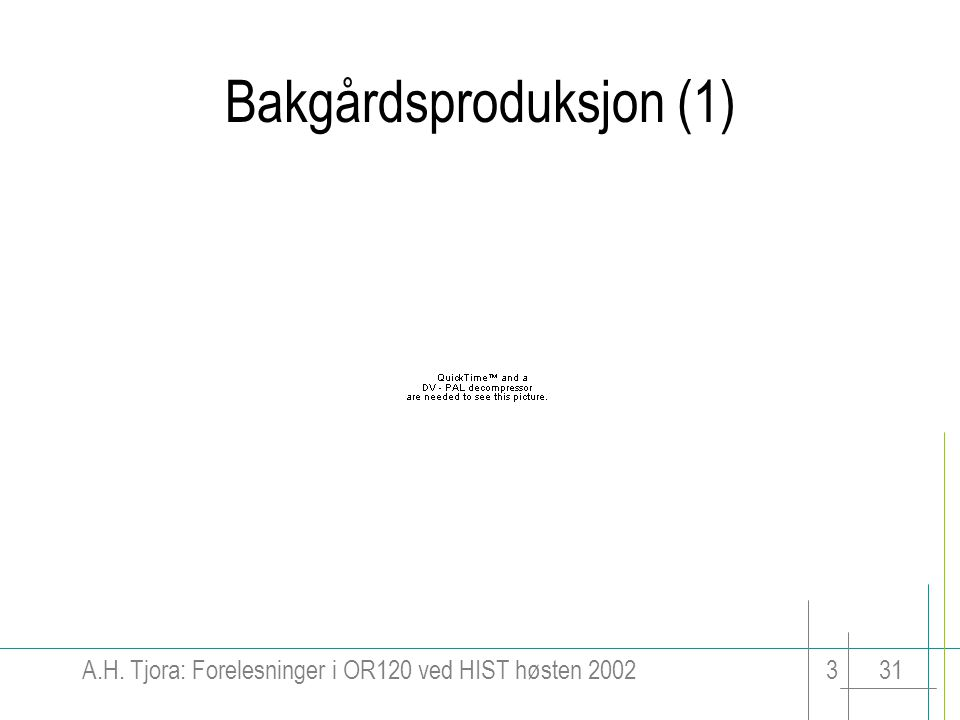 Bakgårdsproduksjon (1)