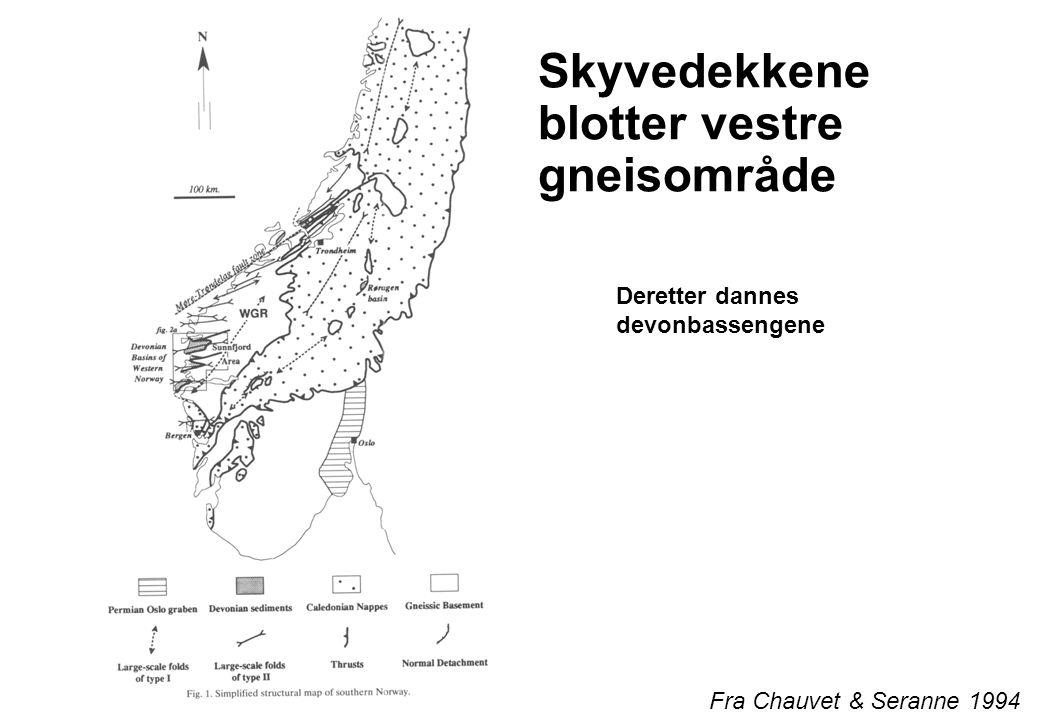 Skyvedekkene blotter vestre gneisområde