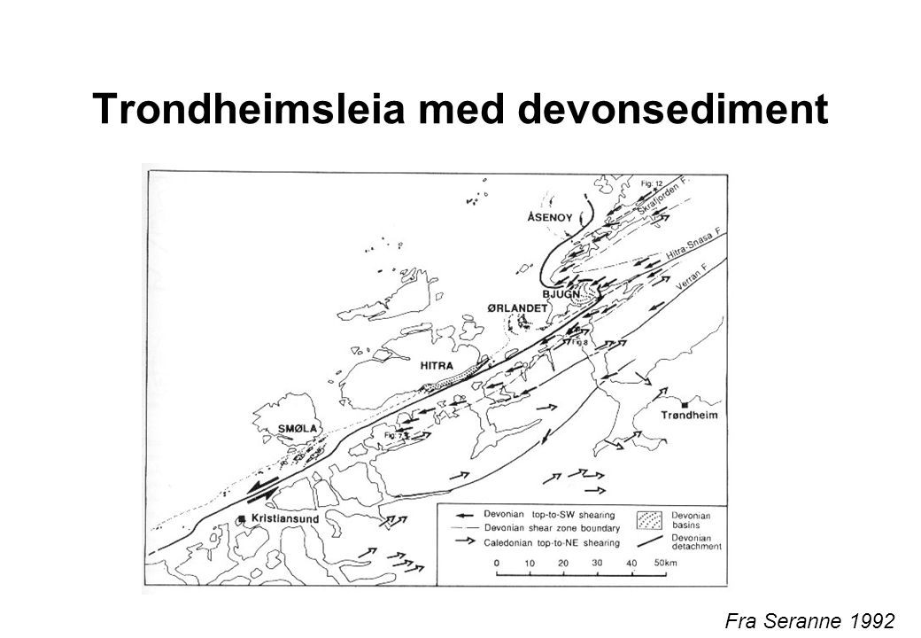 Trondheimsleia med devonsediment
