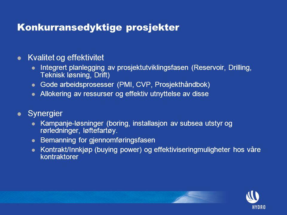 Konkurransedyktige prosjekter