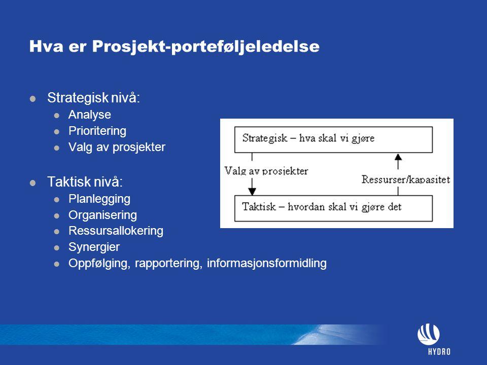 Hva er Prosjekt-porteføljeledelse