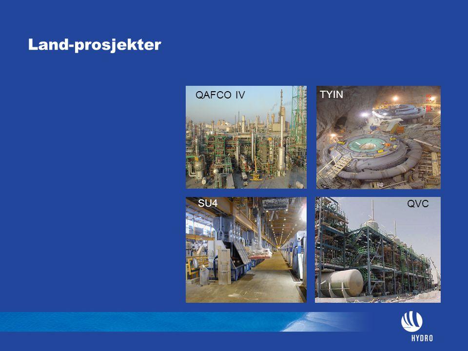 Land-prosjekter QAFCO IV TYIN SU4 QVC
