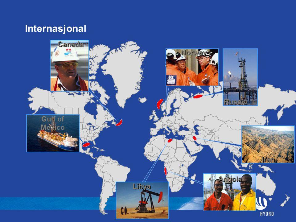 Internasjonal Canada Norway Russia Gulf of Mexico Iran Angola Libya