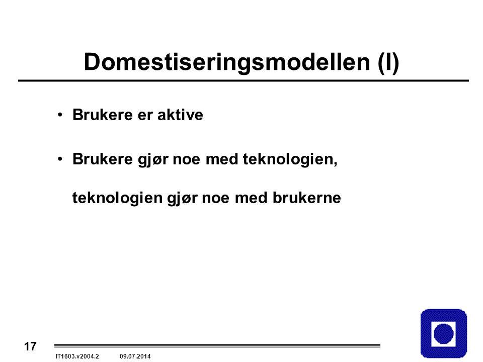 Domestiseringsmodellen (I)