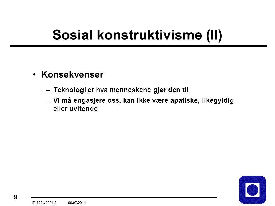 Sosial konstruktivisme (II)