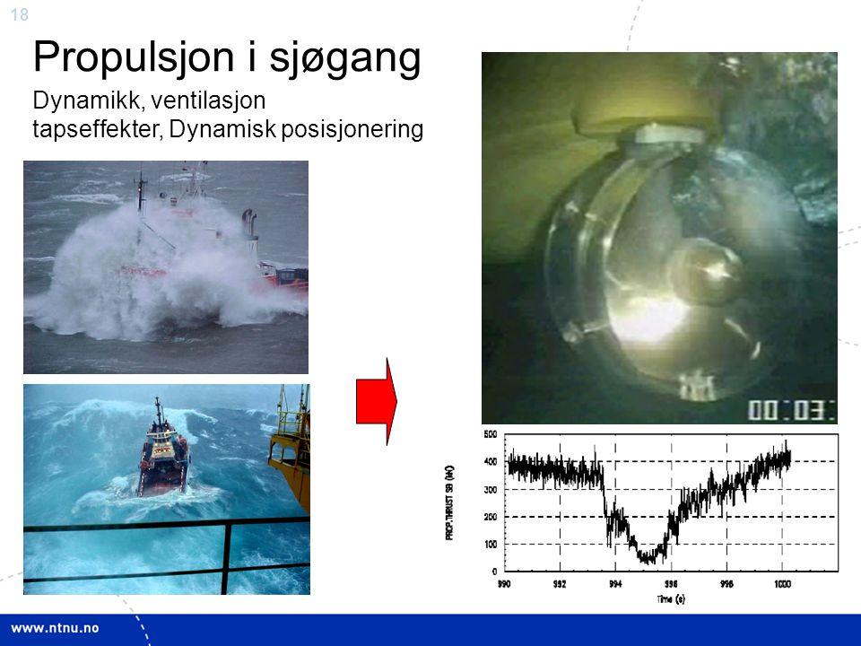 Propulsjon i sjøgang Dynamikk, ventilasjon