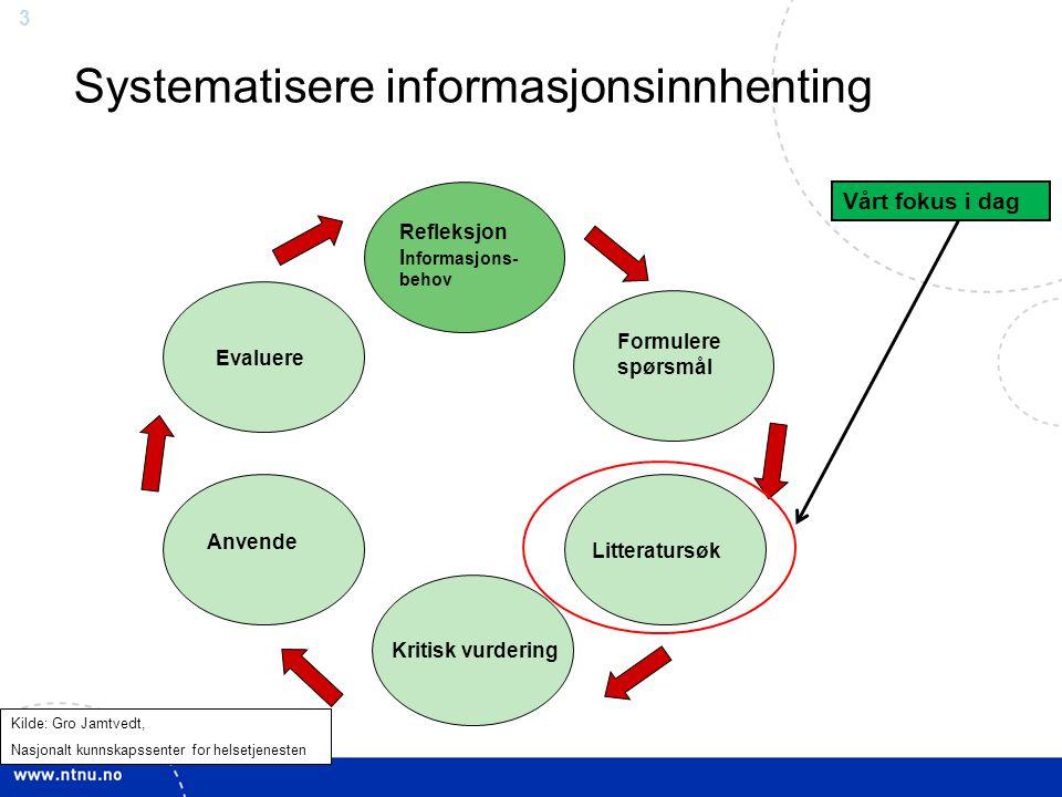 Systematisere informasjonsinnhenting