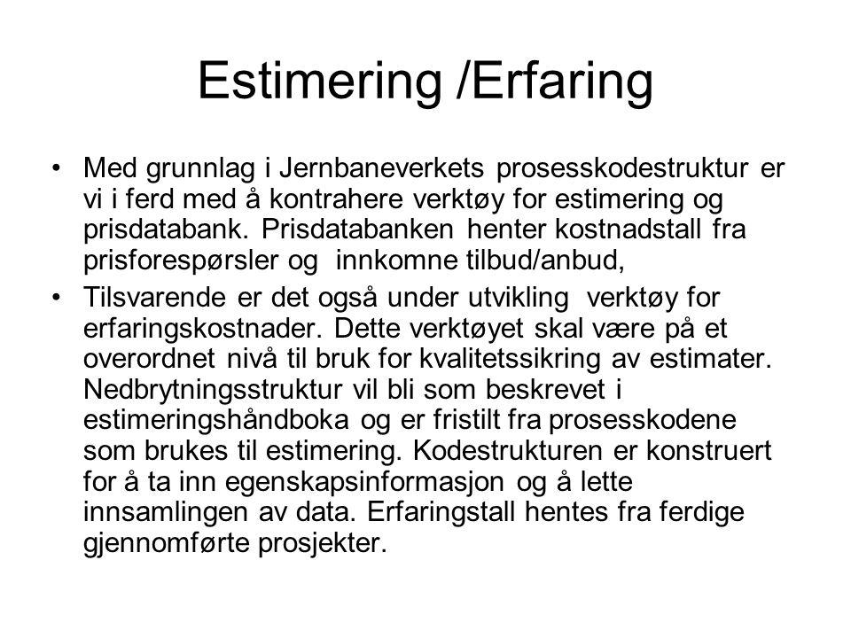 Estimering /Erfaring