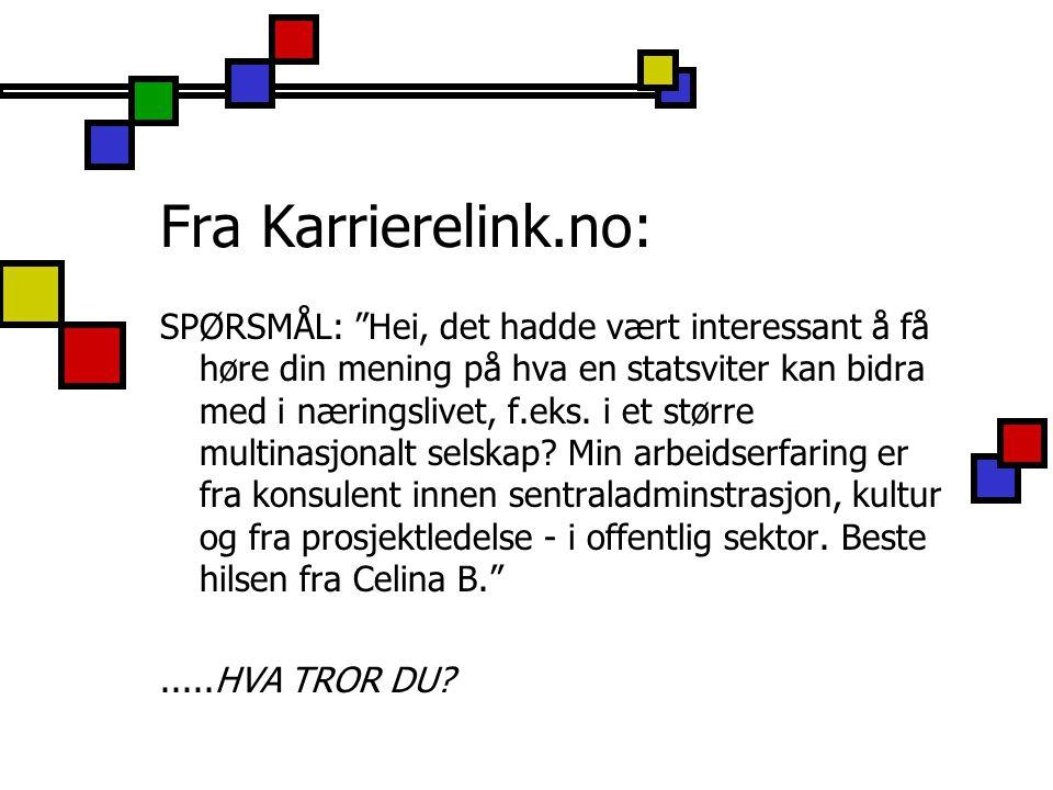 Fra Karrierelink.no: