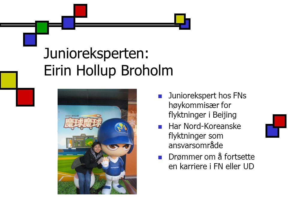 Junioreksperten: Eirin Hollup Broholm