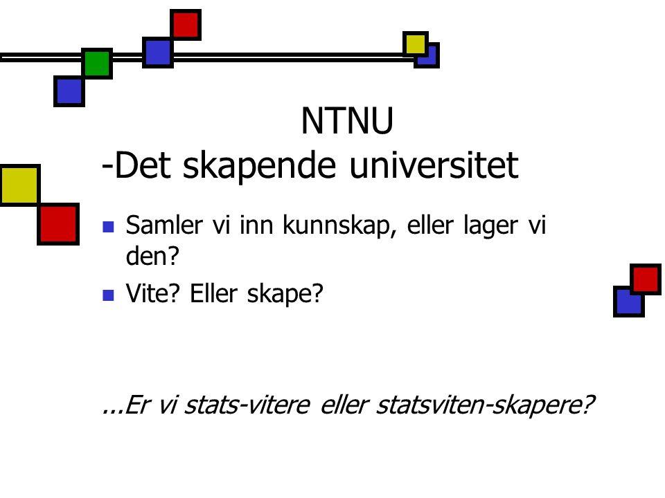NTNU -Det skapende universitet