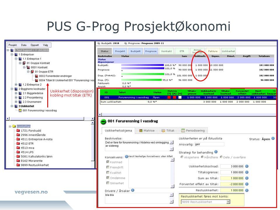 PUS G-Prog ProsjektØkonomi