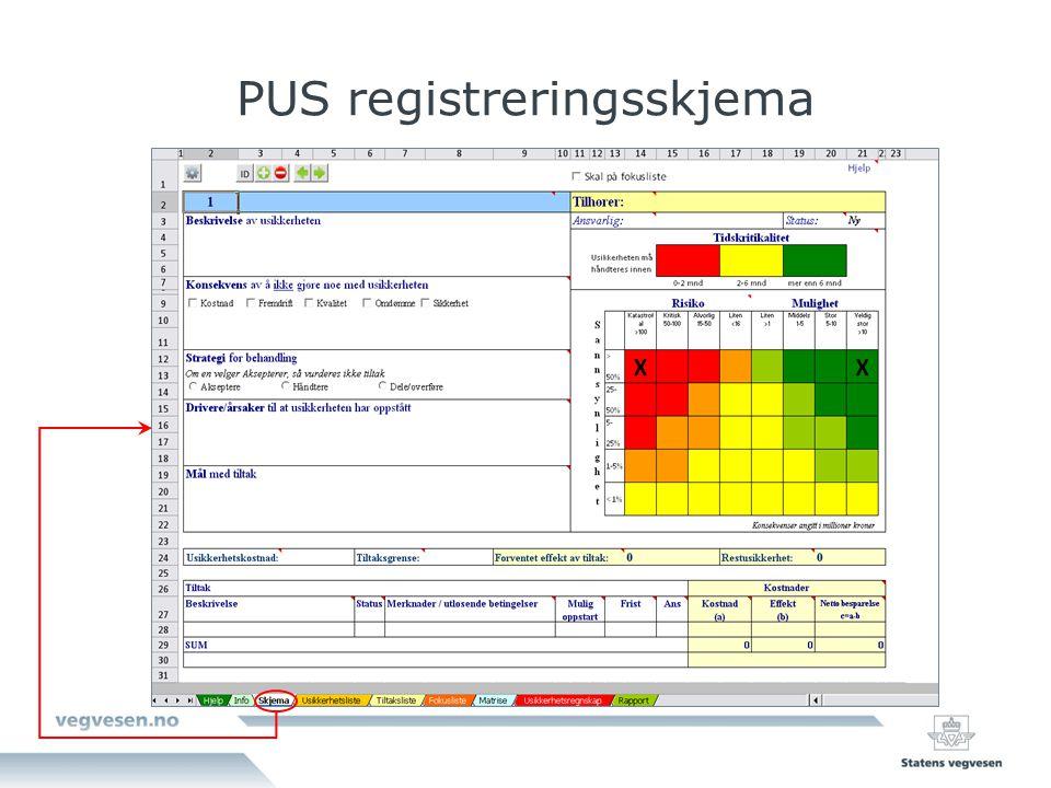 PUS registreringsskjema