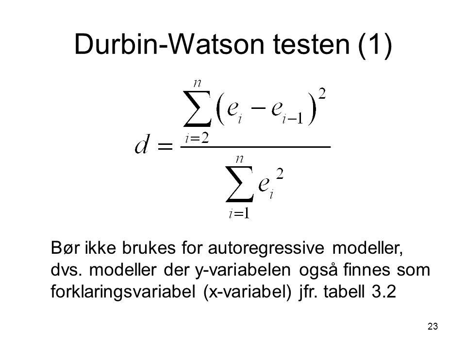 Durbin-Watson testen (1)