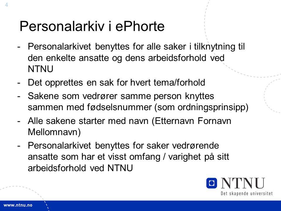 Personalarkiv i ePhorte