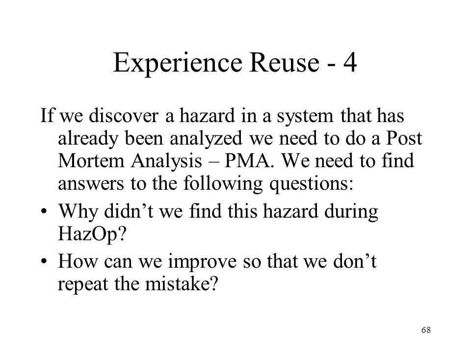 Experience Reuse - 4
