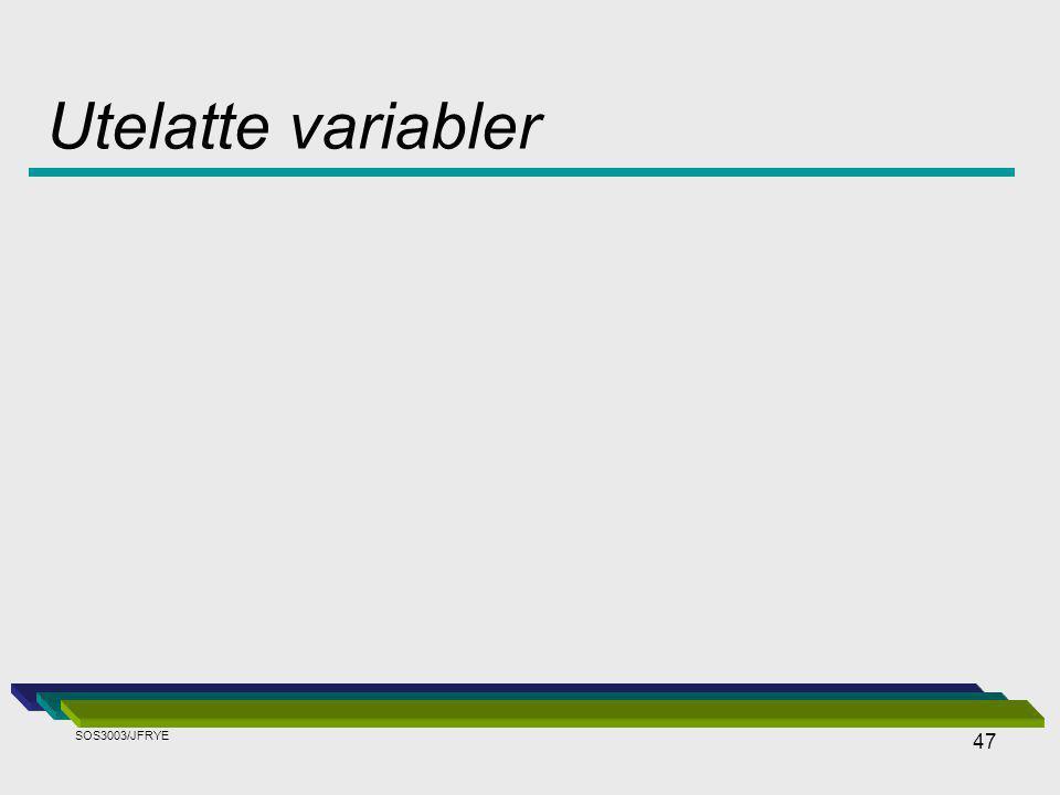Utelatte variabler SOS3003/JFRYE