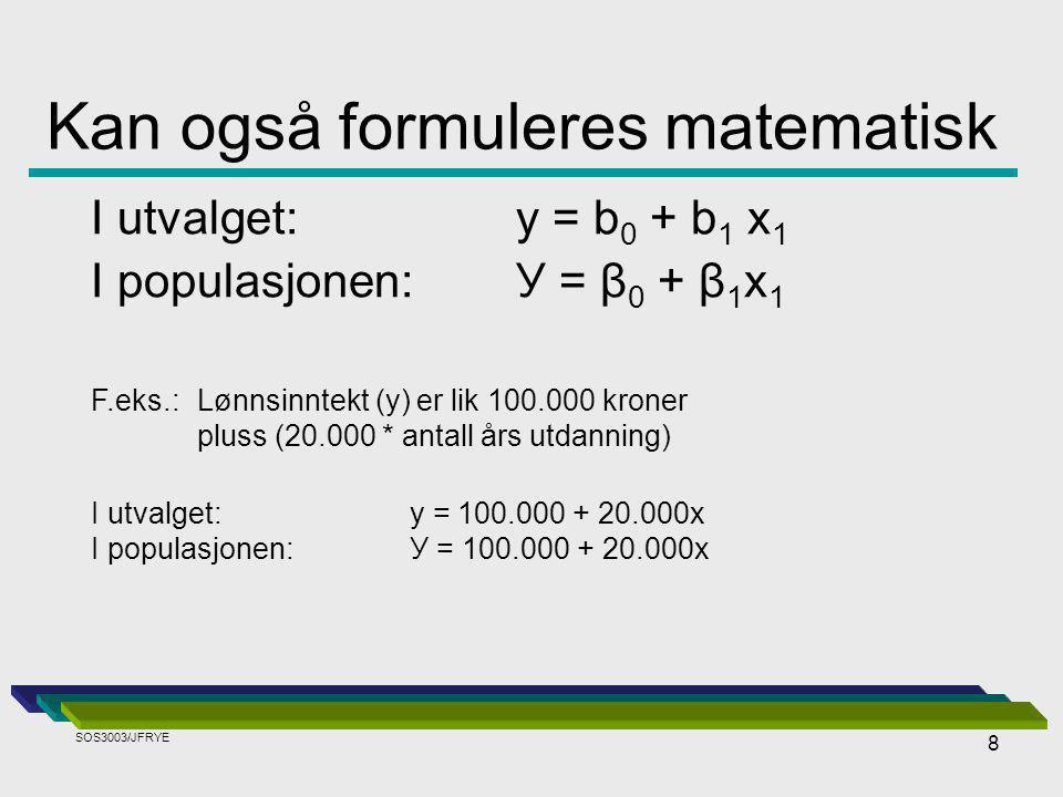 Kan også formuleres matematisk