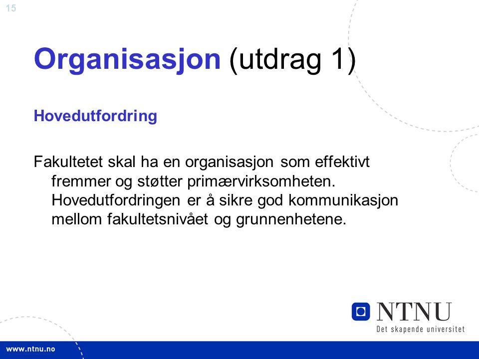 Organisasjon (utdrag 1)