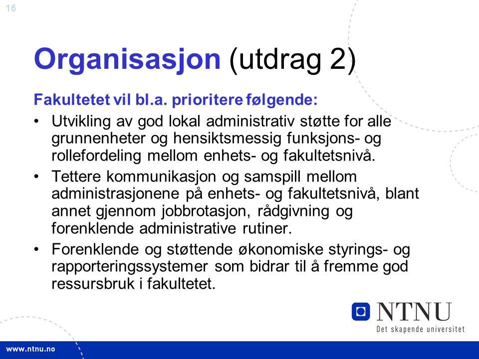 Organisasjon (utdrag 2)