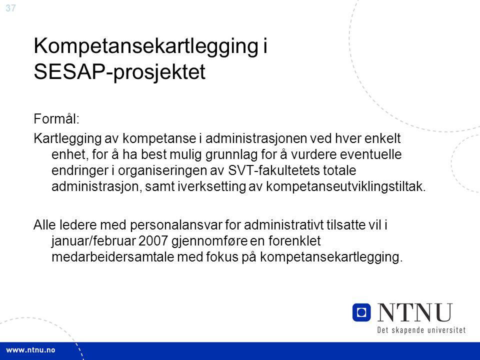 Kompetansekartlegging i SESAP-prosjektet