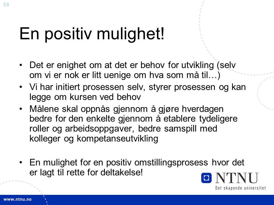 En positiv mulighet! Det er enighet om at det er behov for utvikling (selv om vi er nok er litt uenige om hva som må til…)