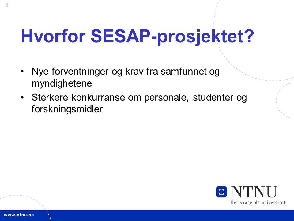 Hvorfor SESAP-prosjektet