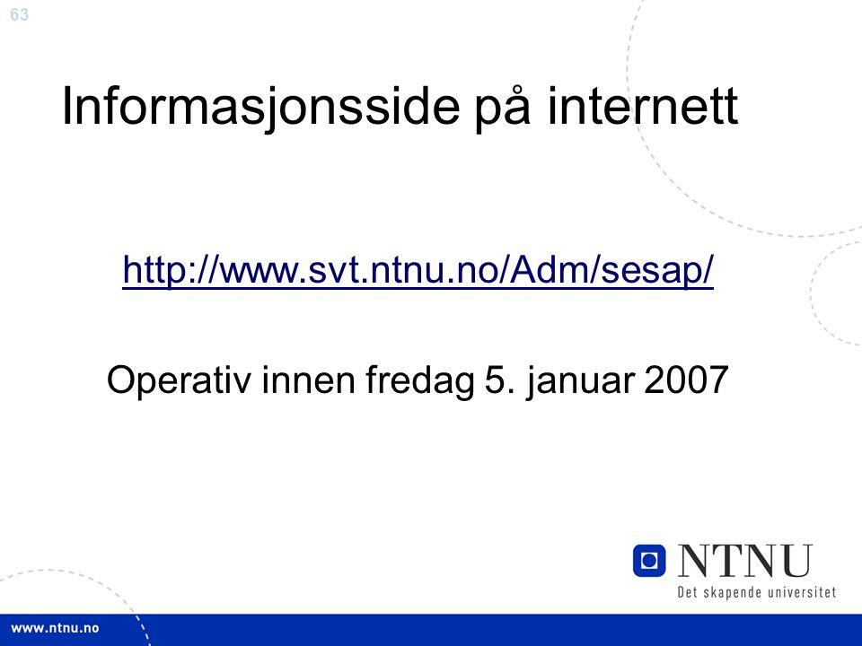 Informasjonsside på internett