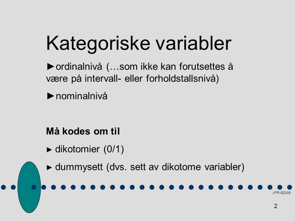 Kategoriske variabler