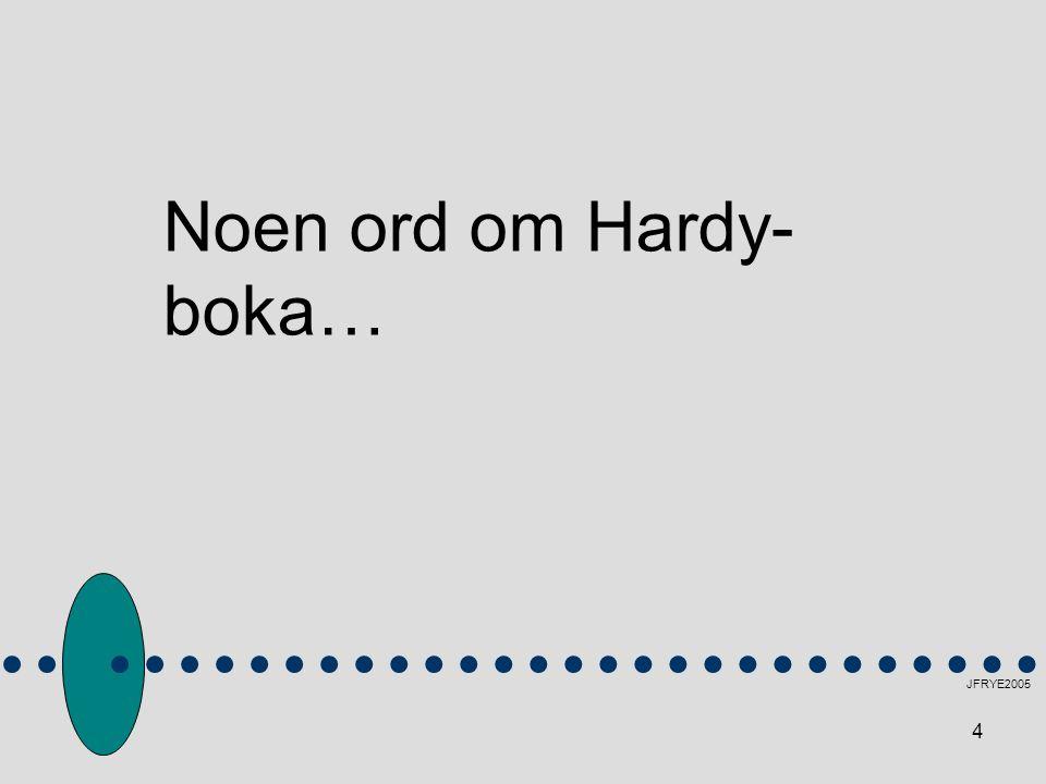 Noen ord om Hardy-boka…