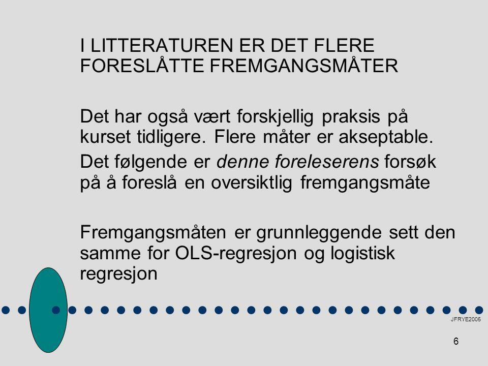 I LITTERATUREN ER DET FLERE FORESLÅTTE FREMGANGSMÅTER