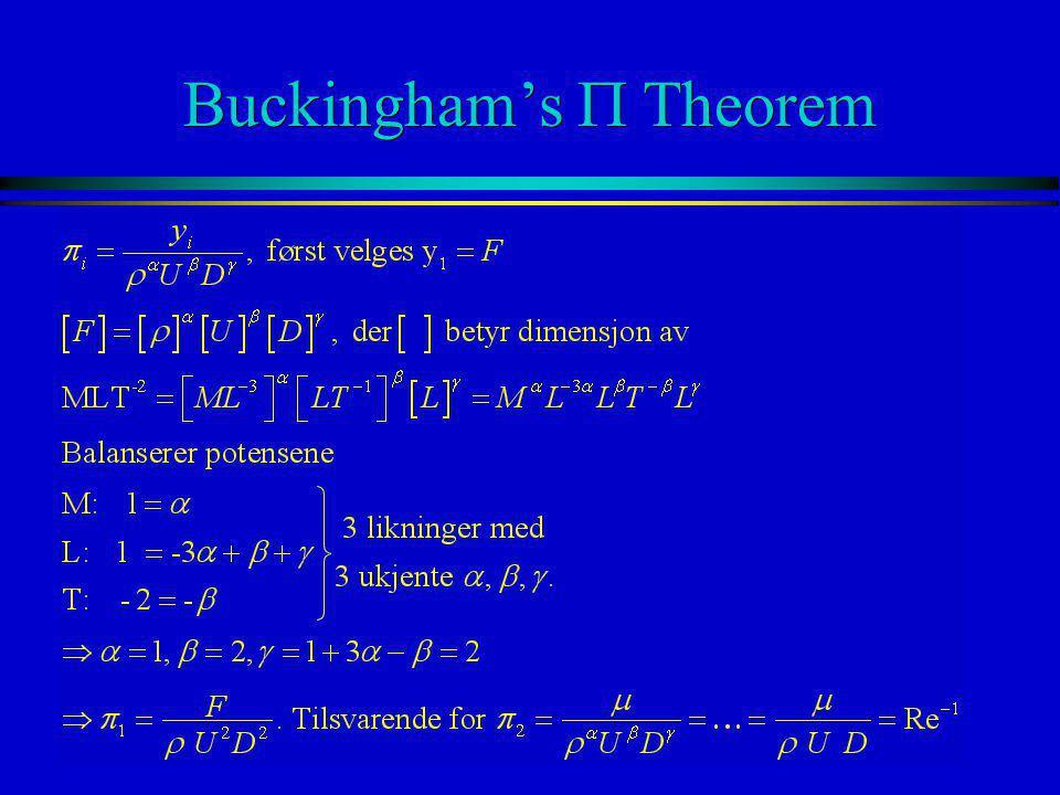 Buckingham's P Theorem
